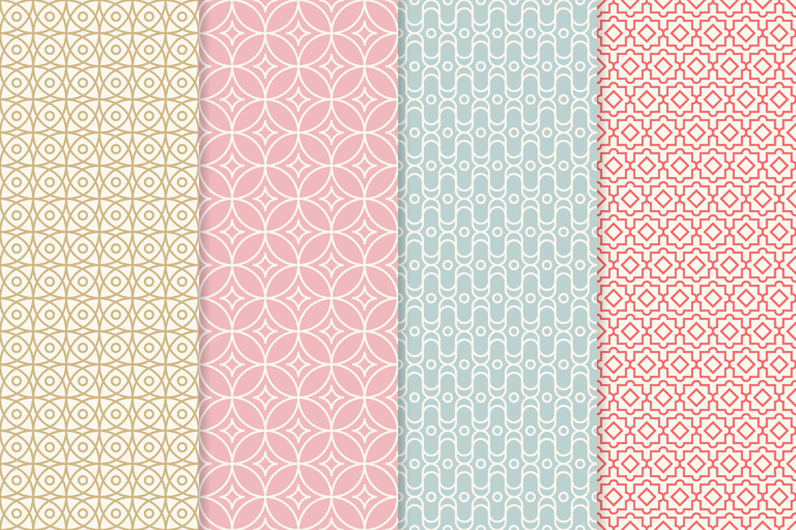 Mono Line Frames and Patterns - Set 13 example image 2