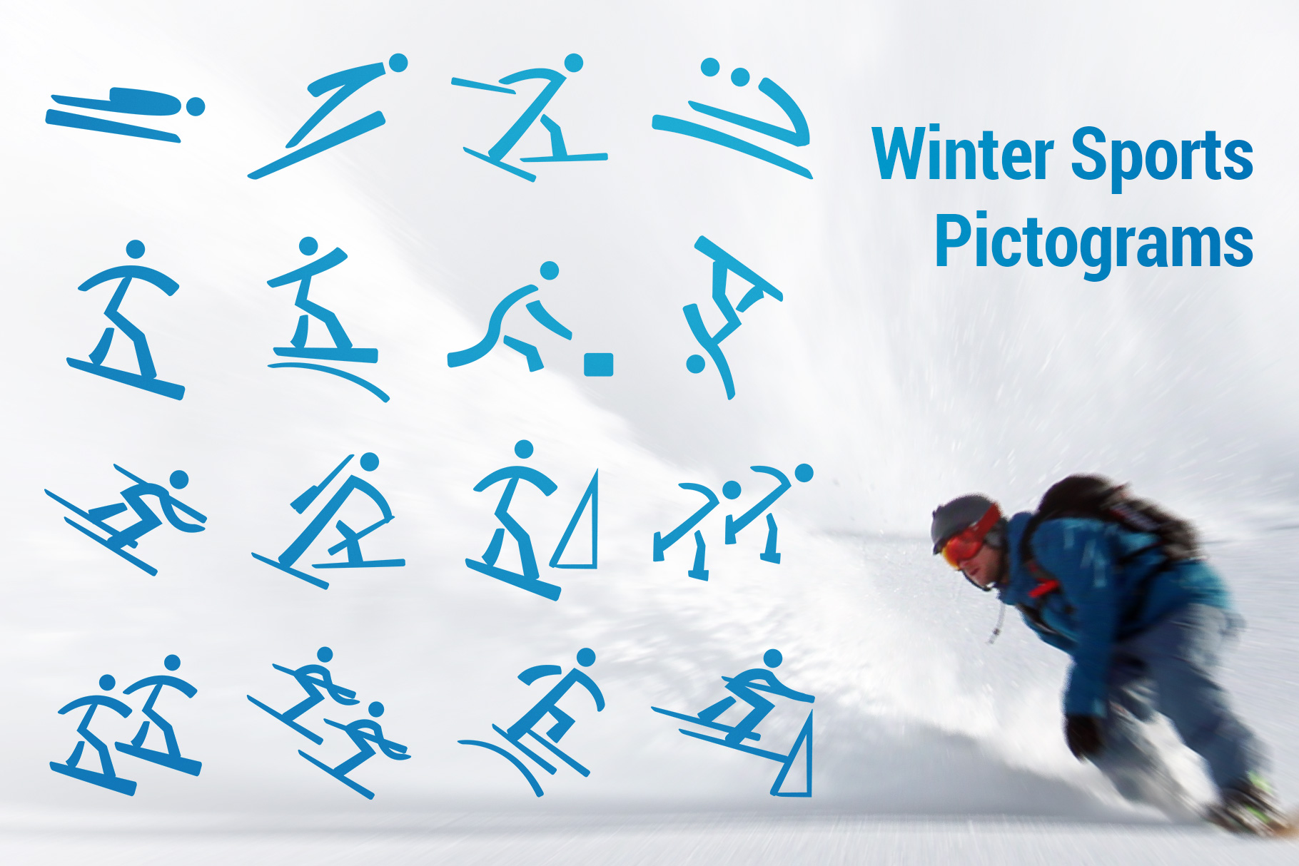 Winter Sports Pictograms Font example image 1