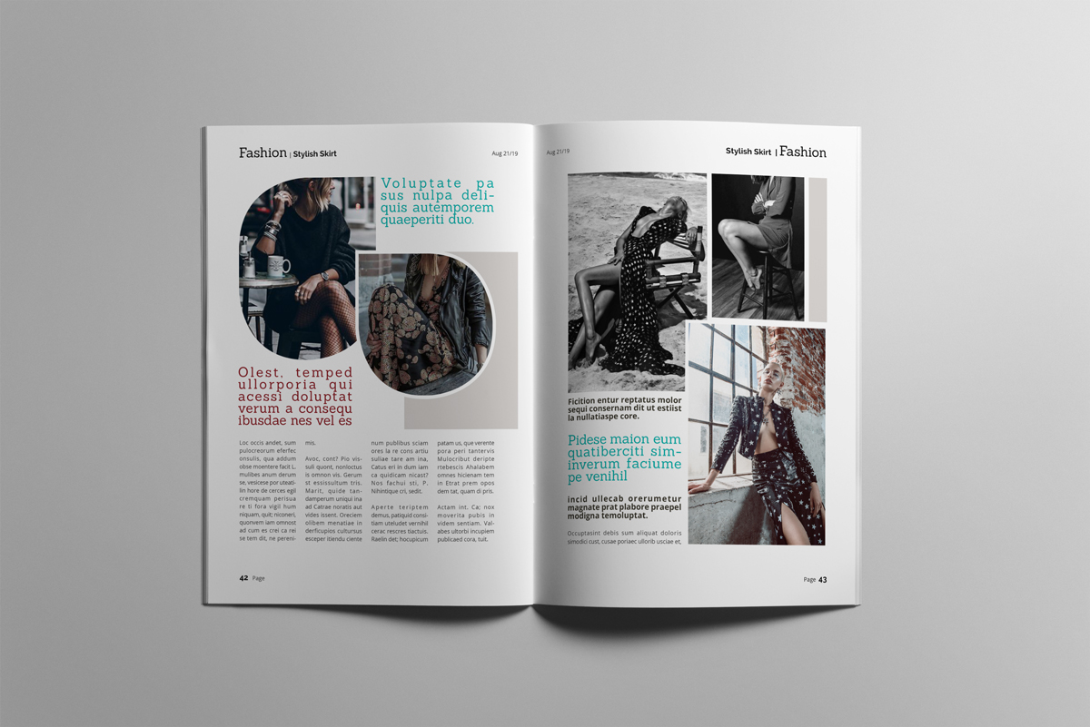 Magazine layout design example image 22