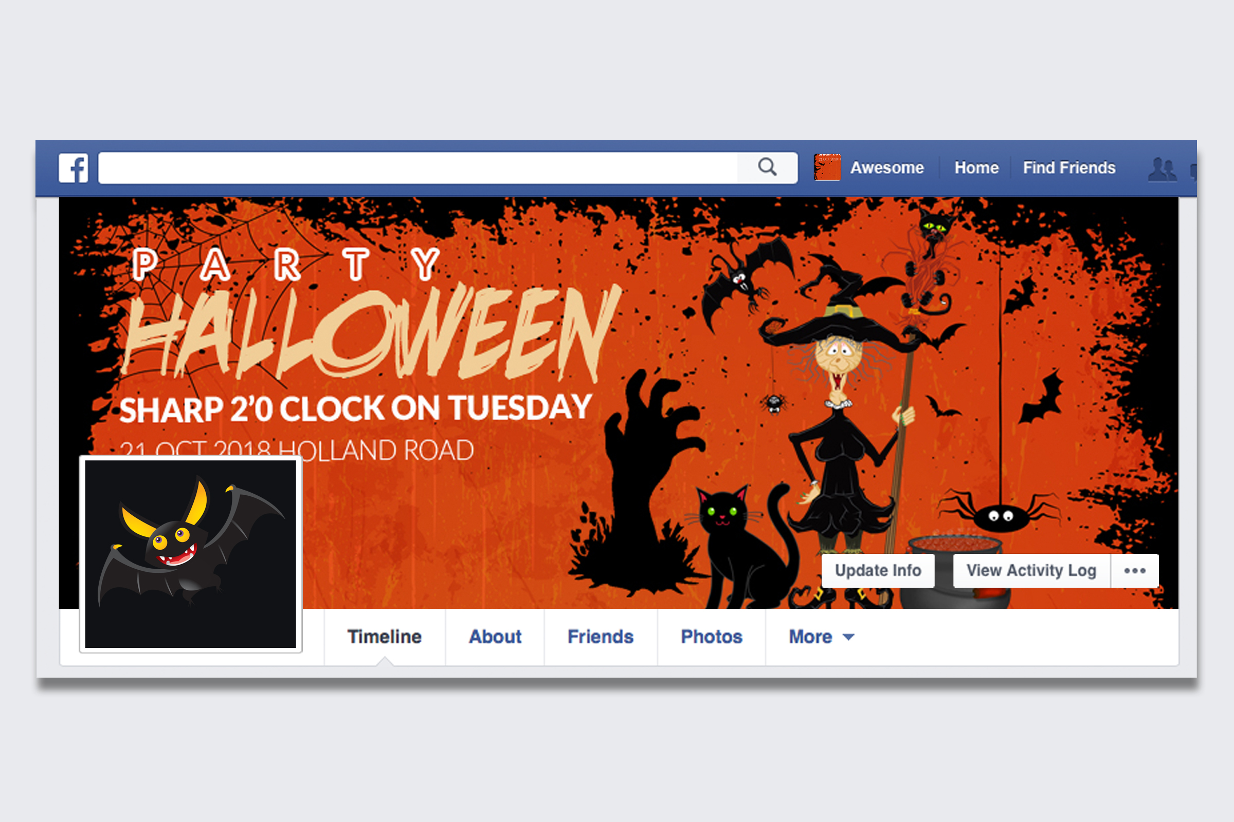 10 Halloween Facebook Timeline Cover Bundle example image 9