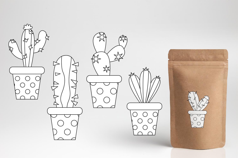 Succulent cactus clip art illustrations bundle example image 11