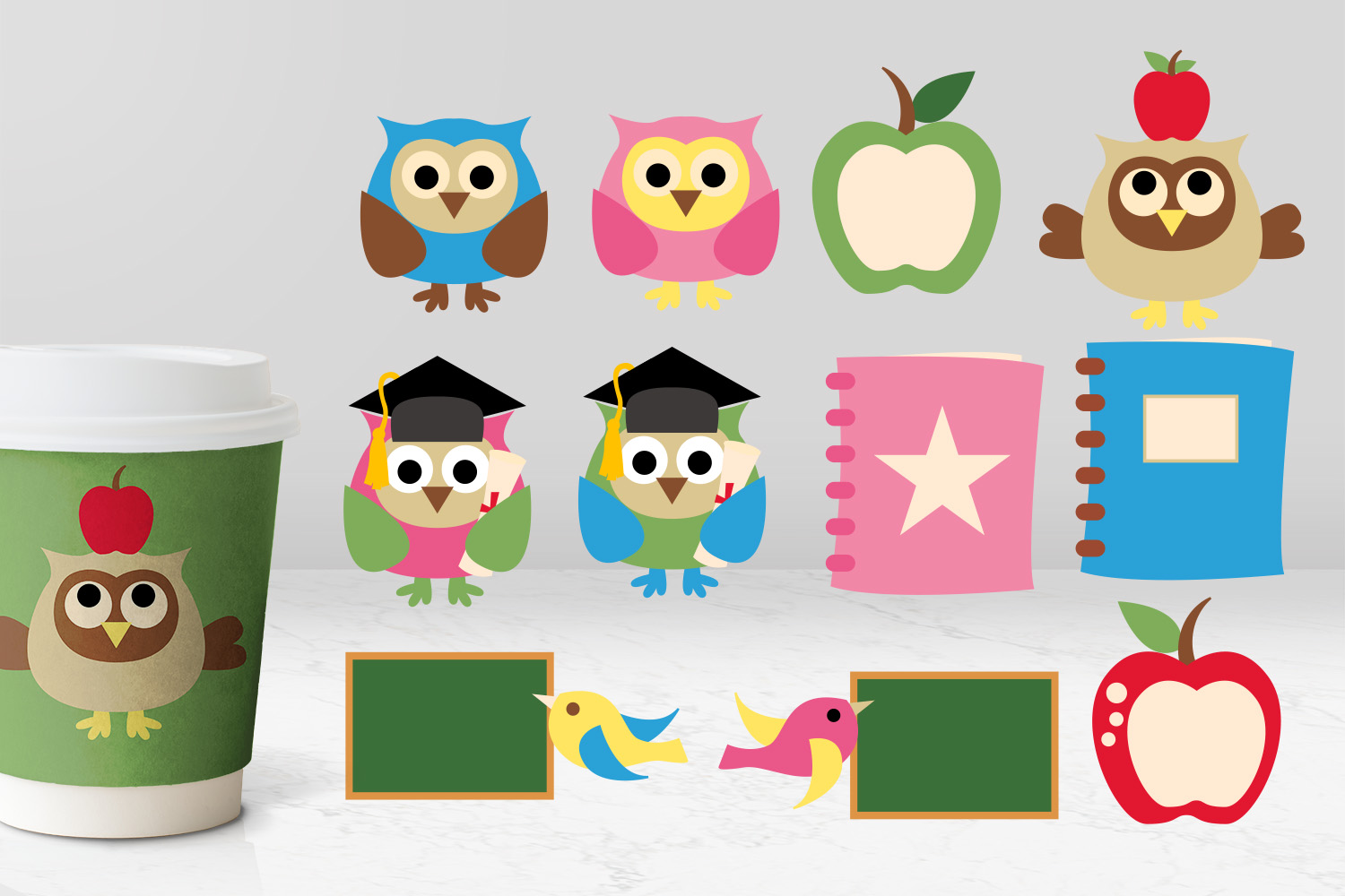 Back To School Clip Art Huge Bundle - Over 350 Graphics example image 25