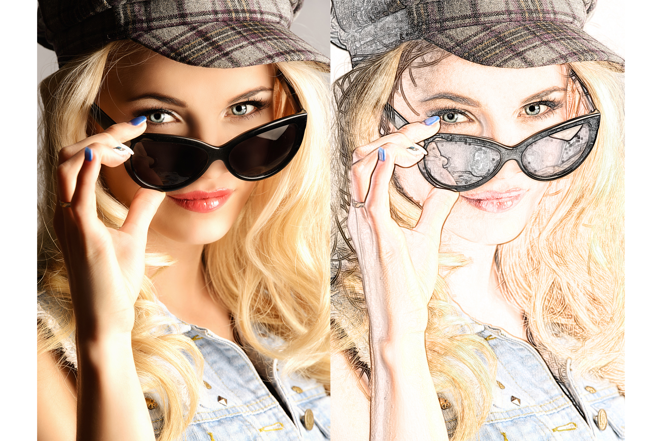 44 Sketch Photoshop Actions Collection (Action for photoshop CS5,CS6,CC) example image 3