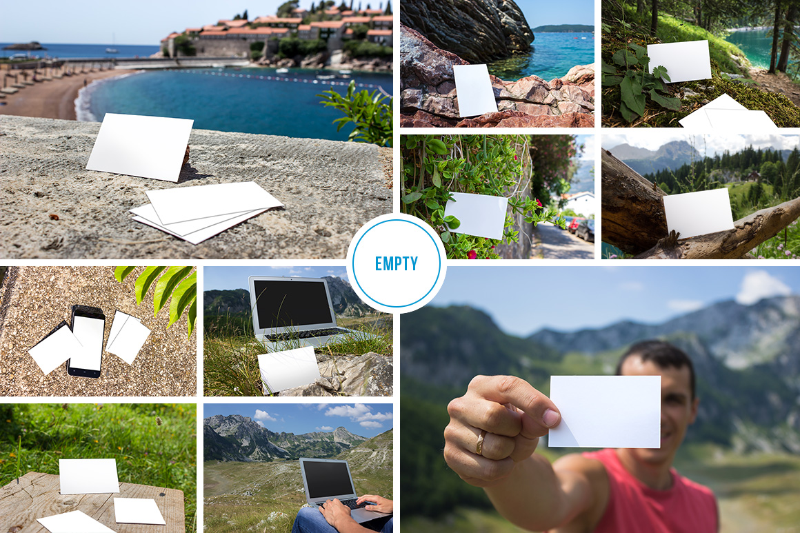 10 Fresh Business Card Mockups vol.1 example image 3
