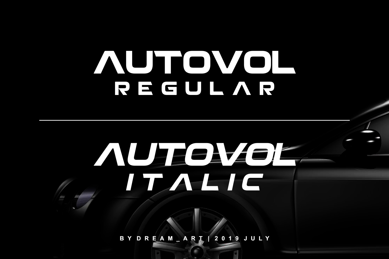 AUTOVOL - BOLD FONT example image 6