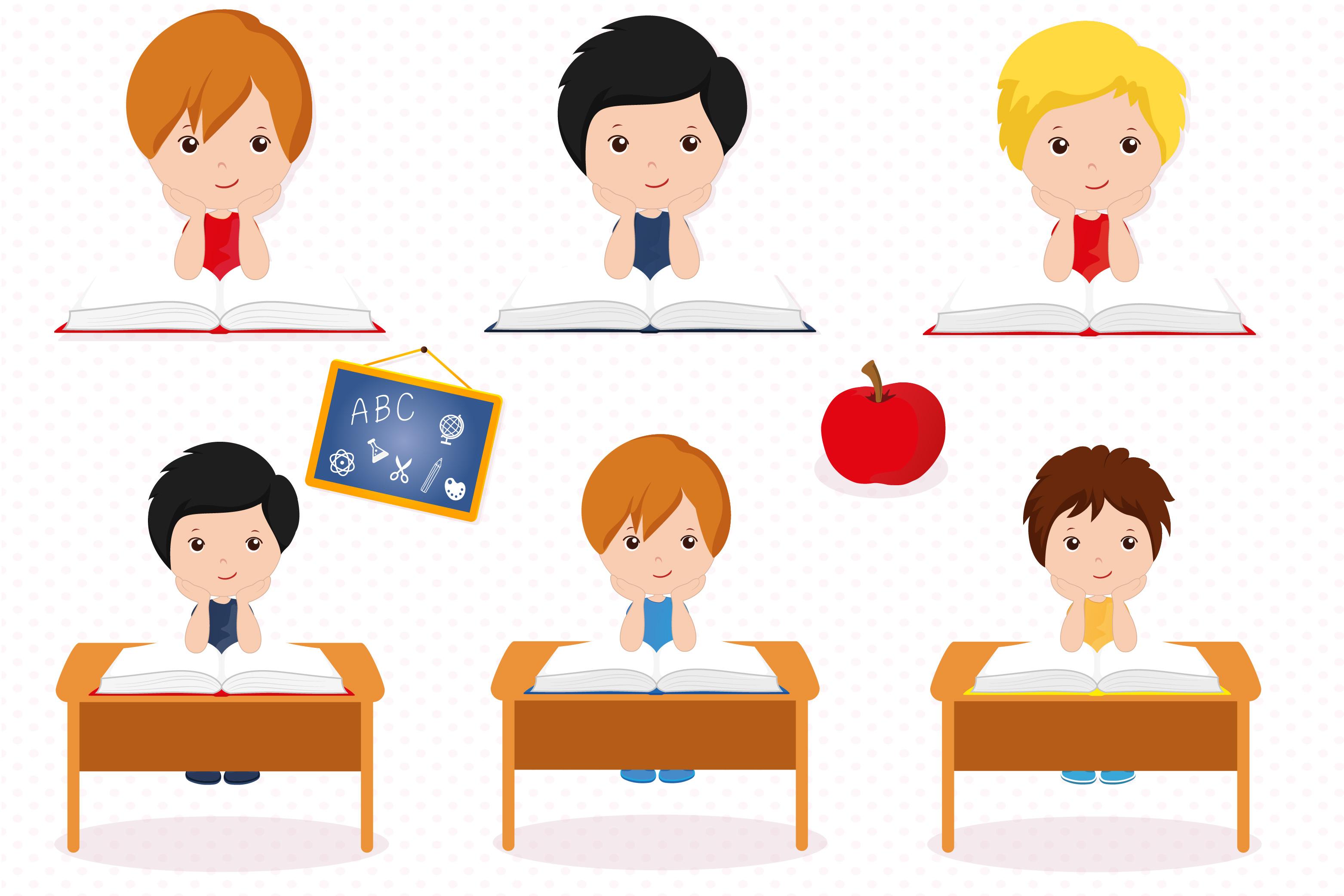 Boys in school graphics, School digital papers example image 3