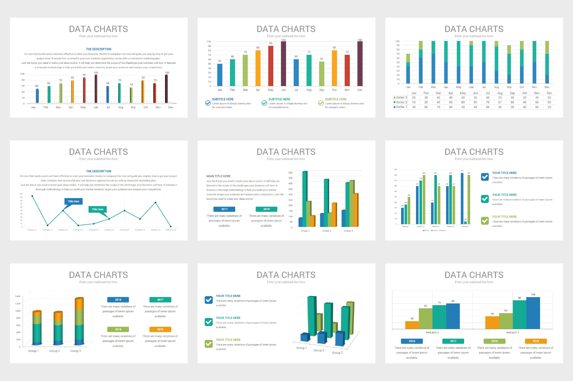 Data Charts PowerPoint Template example image 5