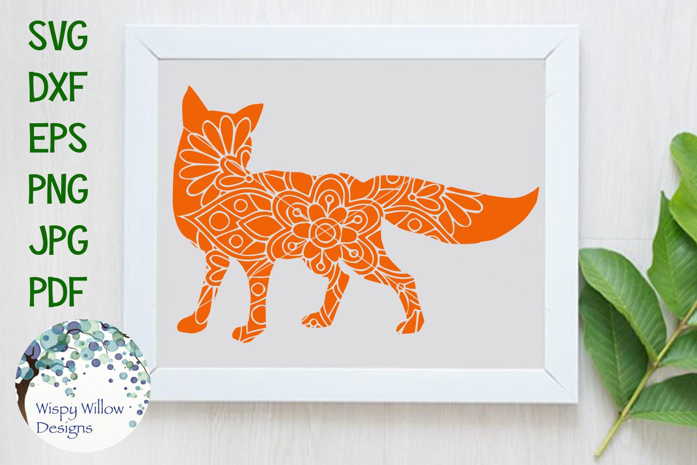 Woodland Animal Mandala Bundle, Fox, Deer, Bear, Moose SVG example image 7