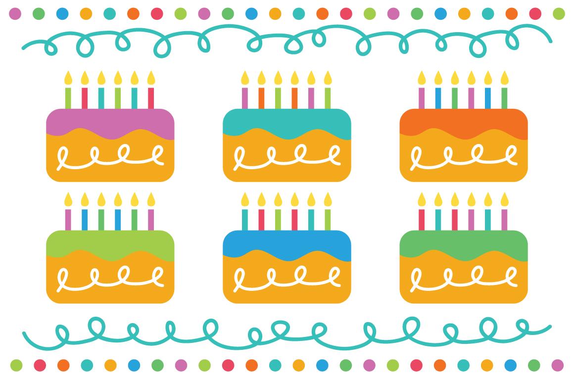 Happy Birthday Party Clip Art Set example image 4