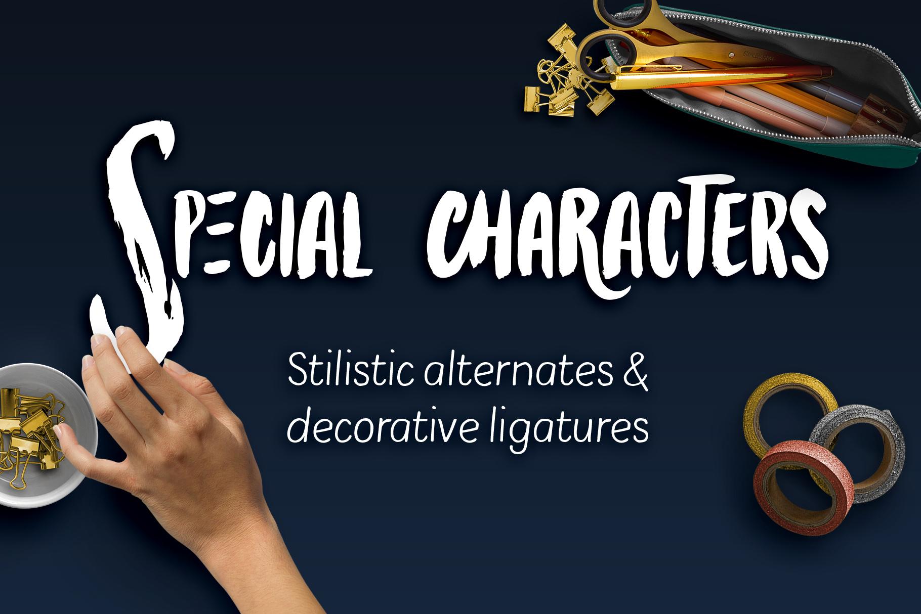 Bolonqui - handmade font duo example image 6