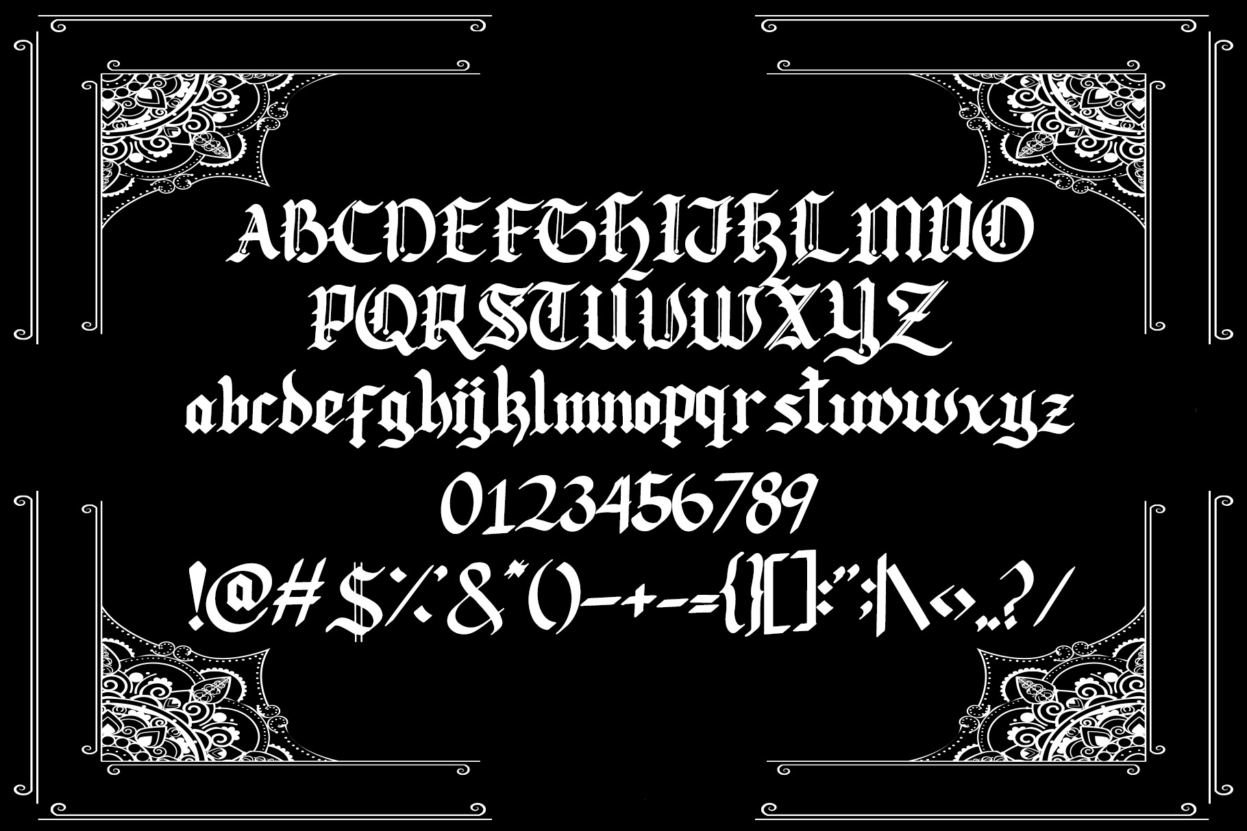 Lodeh - Black Letter Typeface example image 4