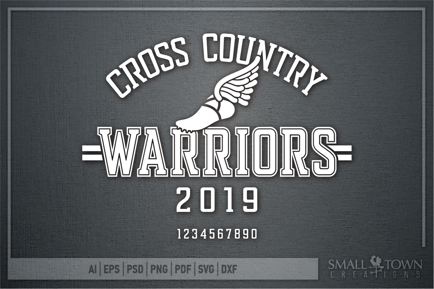 Warrior Cross Country, Sports, Logo, PRINT, CUT & DESIGN example image 5