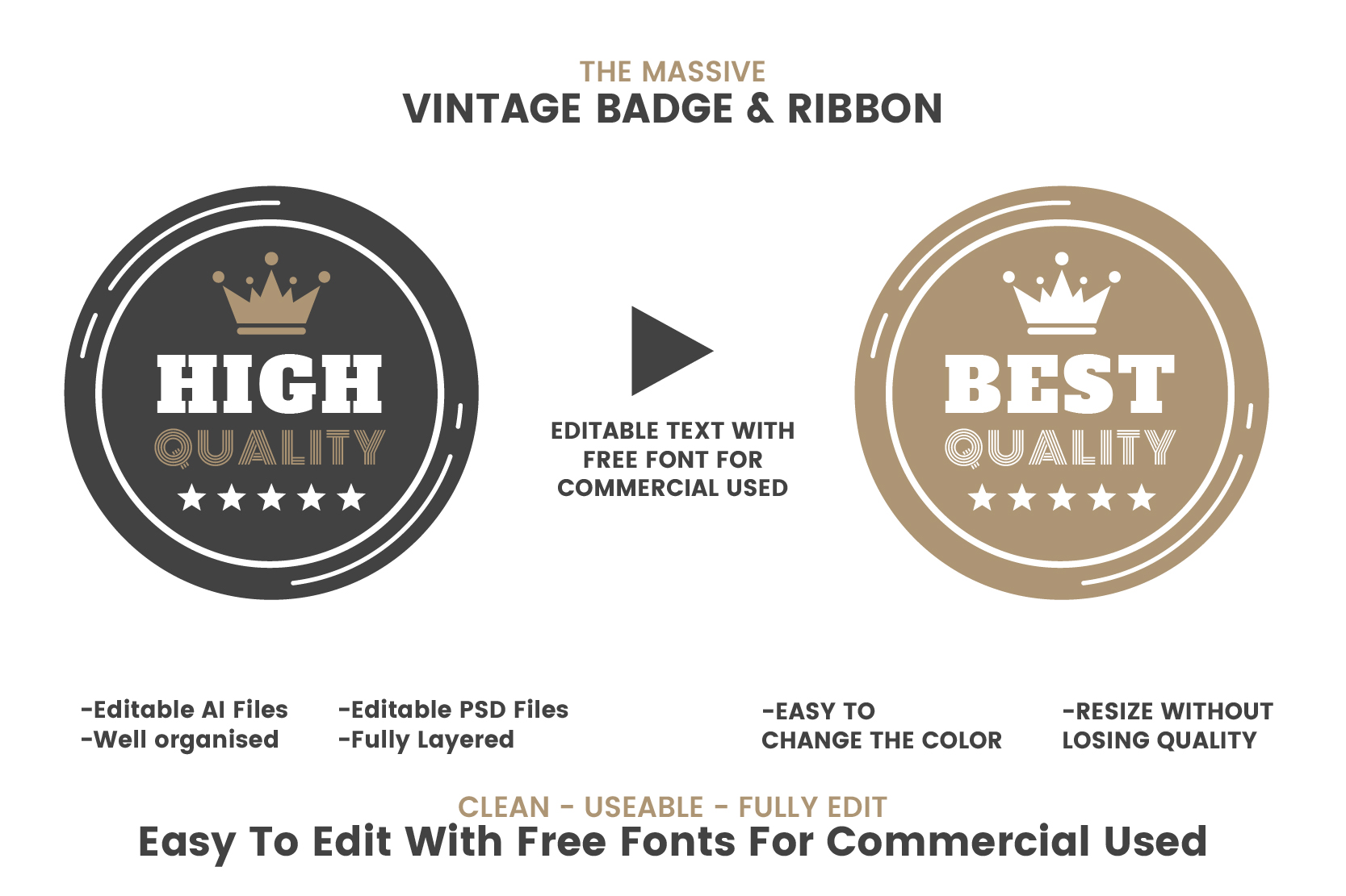 36 VINTAGE BADGE & RIBBON Vol.4 example image 4