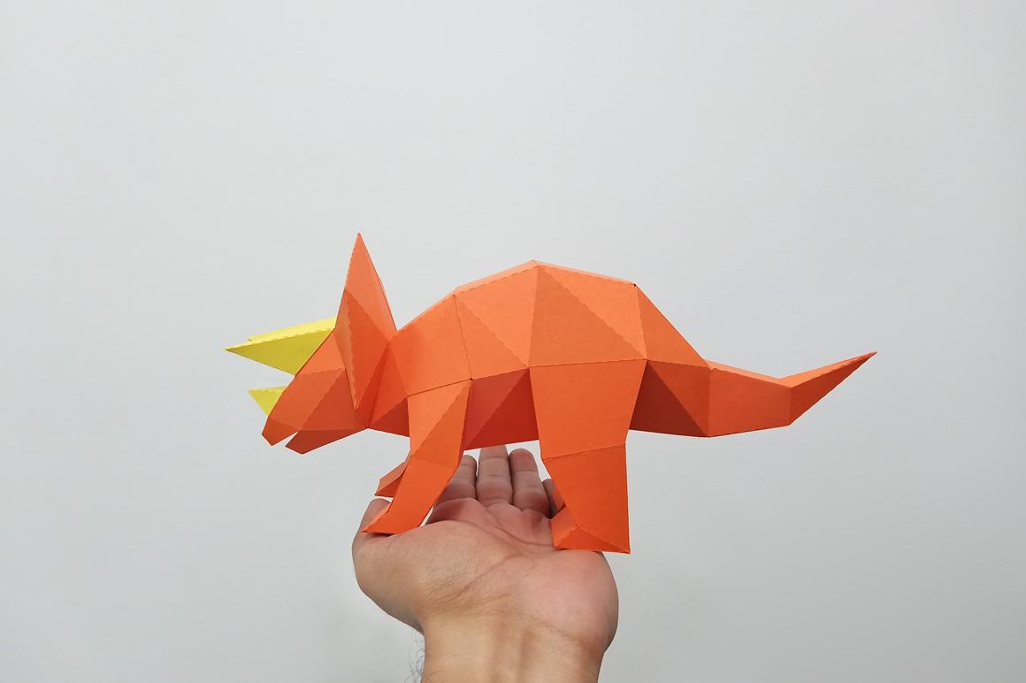 DIY Triceratops - 3d papercraft example image 5