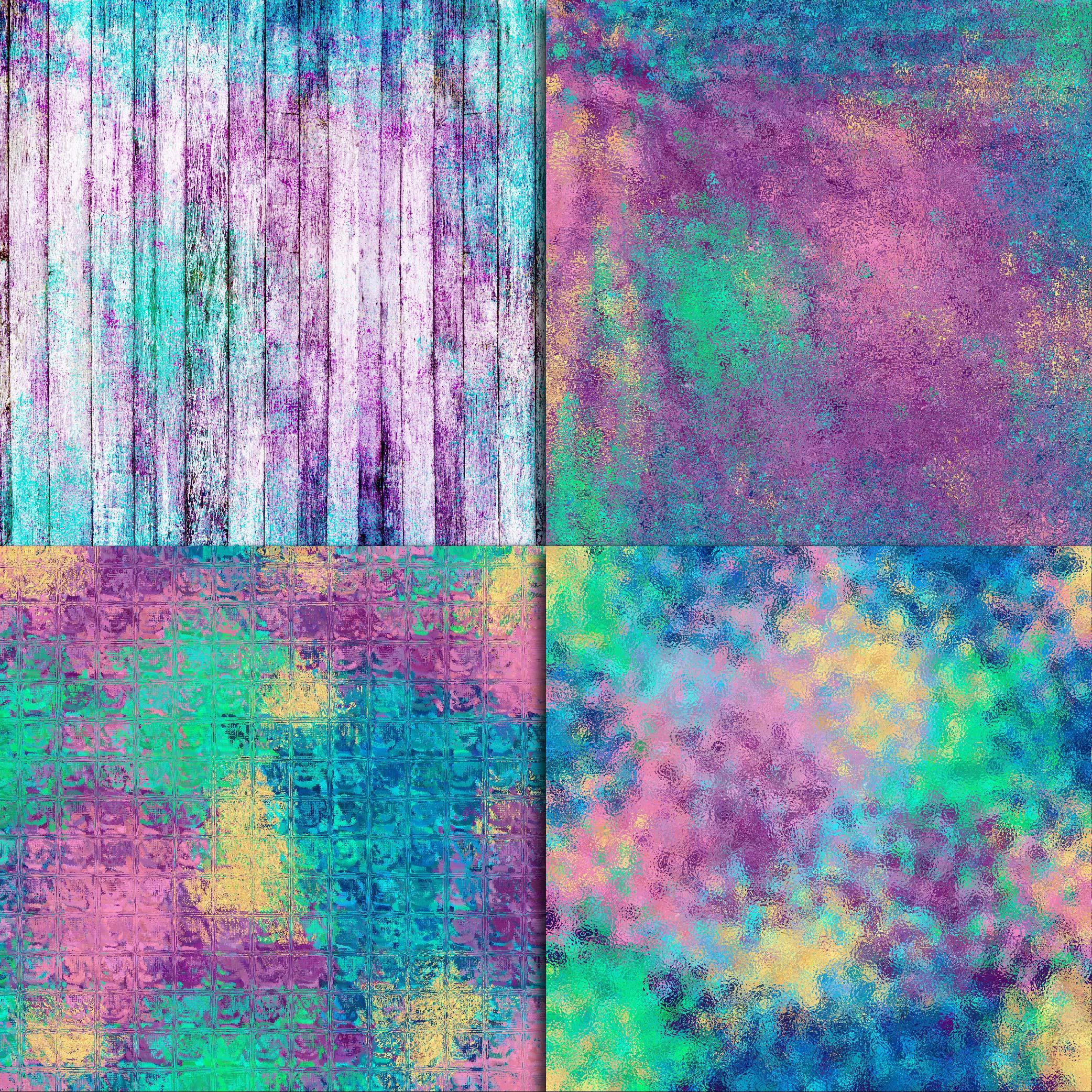 Mermaid Textures Digital Paper example image 3