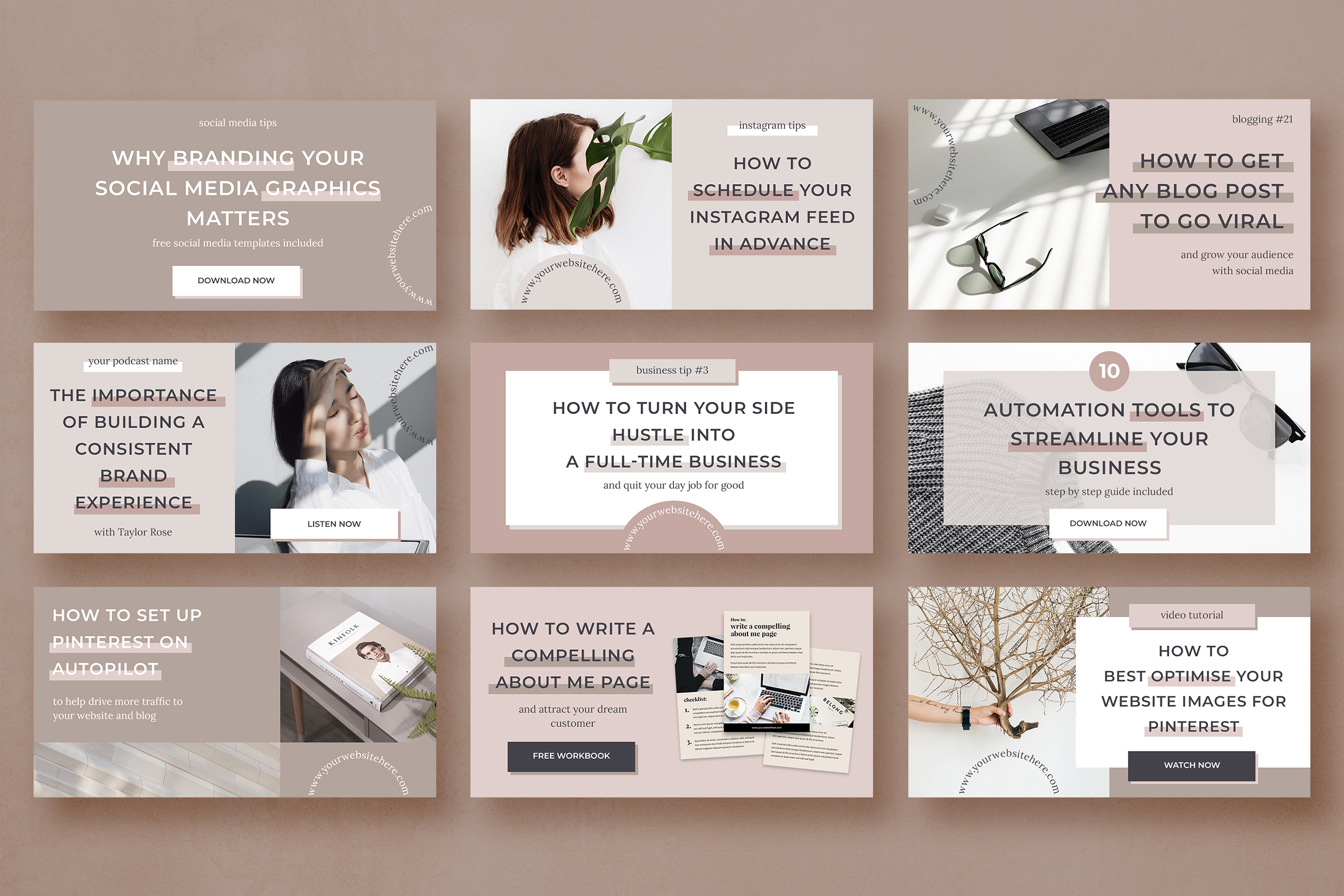 Blog banner & Facebook template pack example image 3