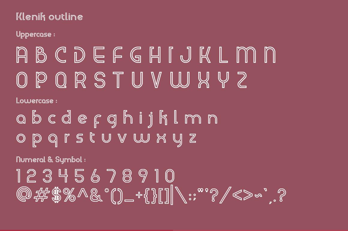 Klenik   a Slab Seriff Font example image 3