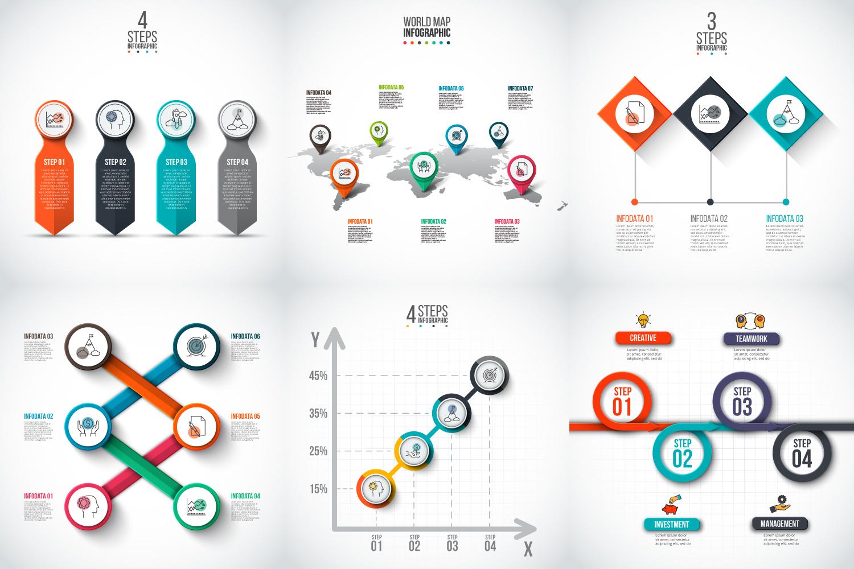 Infographic elements bundle v.02 example image 9
