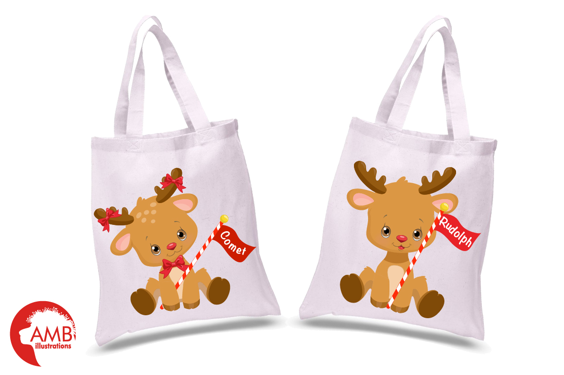 All of Santa's Reindeer clipart, graphics, illustrations AMB-2291 example image 3