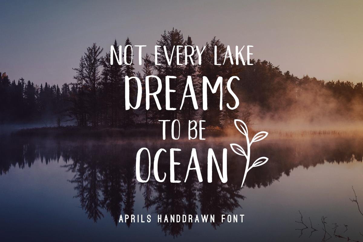 Aprils Sans Handdrawn Font example image 8