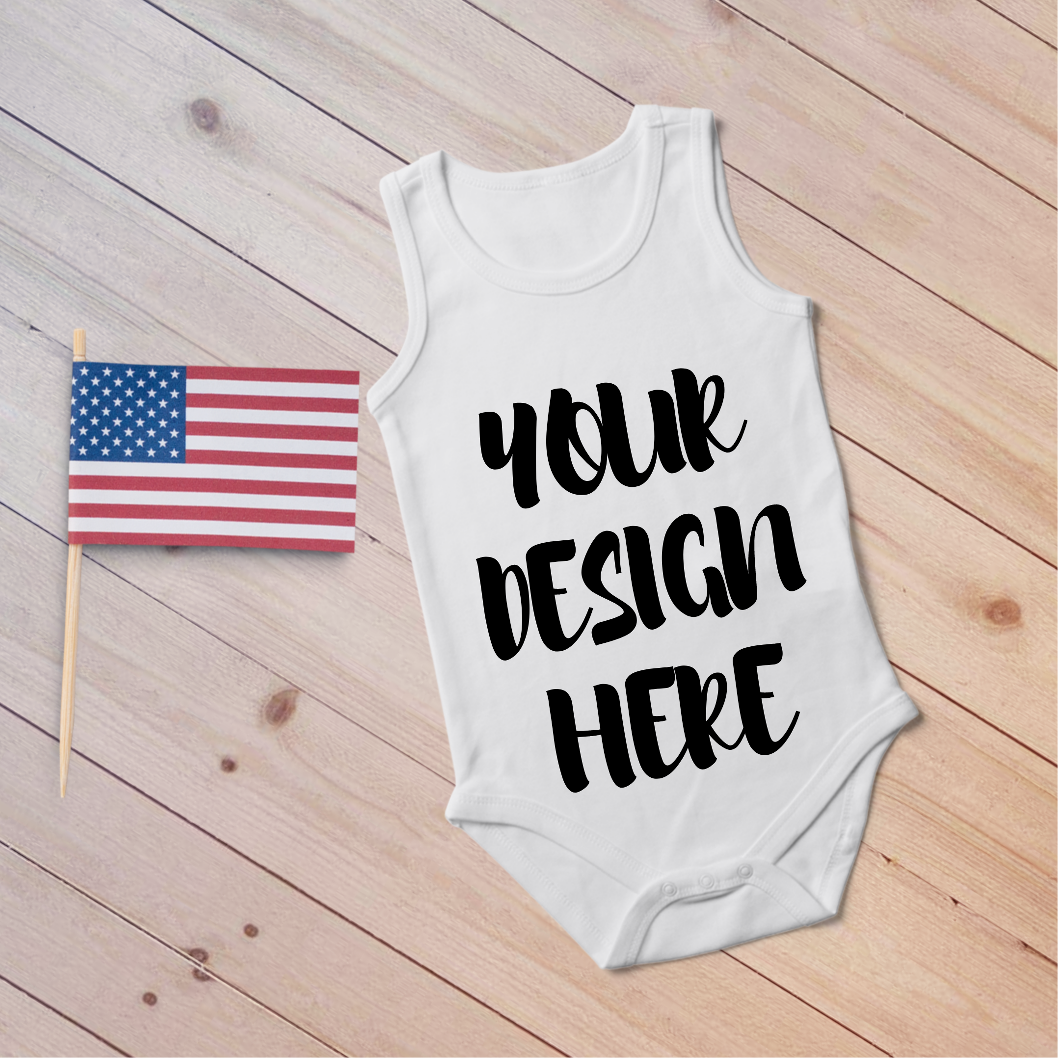 4th July Singlet Baby Bodysuit Mockups - 7 example image 8