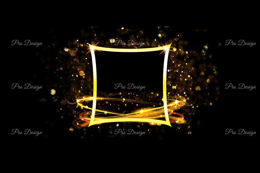 Golden Sparkling Frame Background example image 1