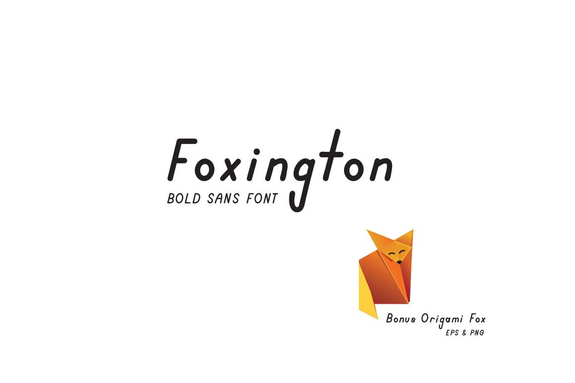 Foxington Sans Font with Bonus Fox Vector example image 1