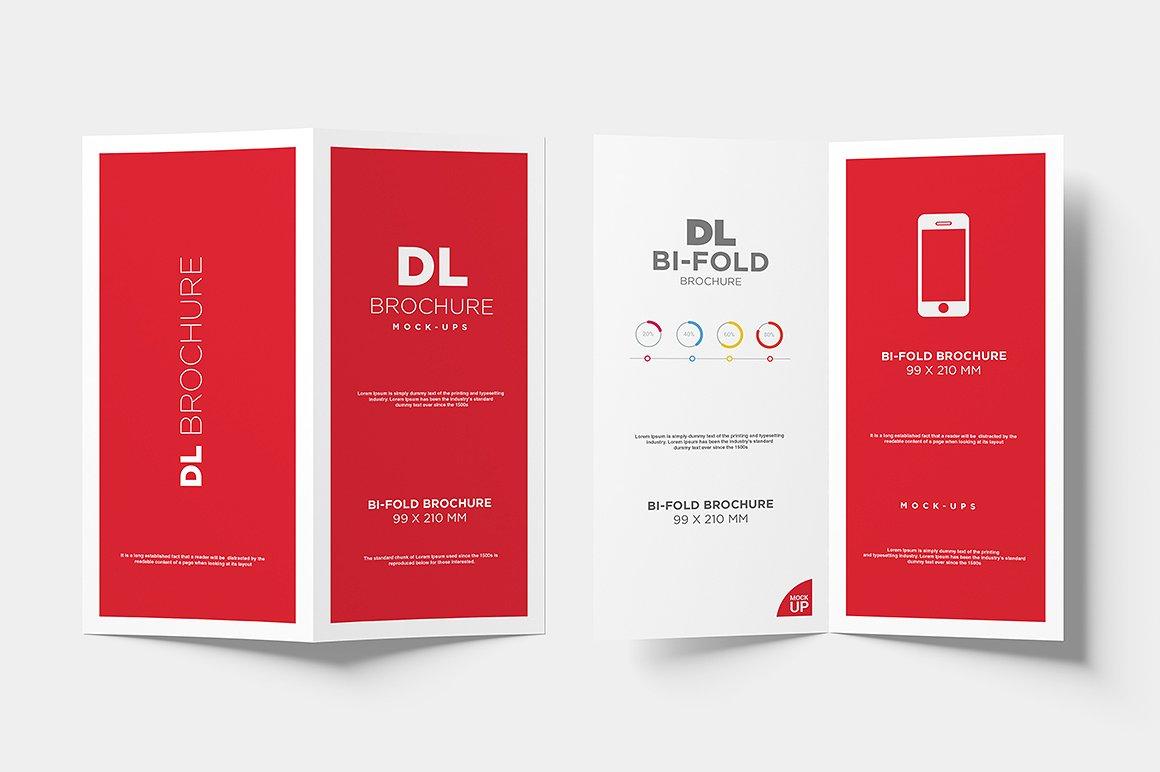 DL Bi-fold Brochure Mock-Up example image 9