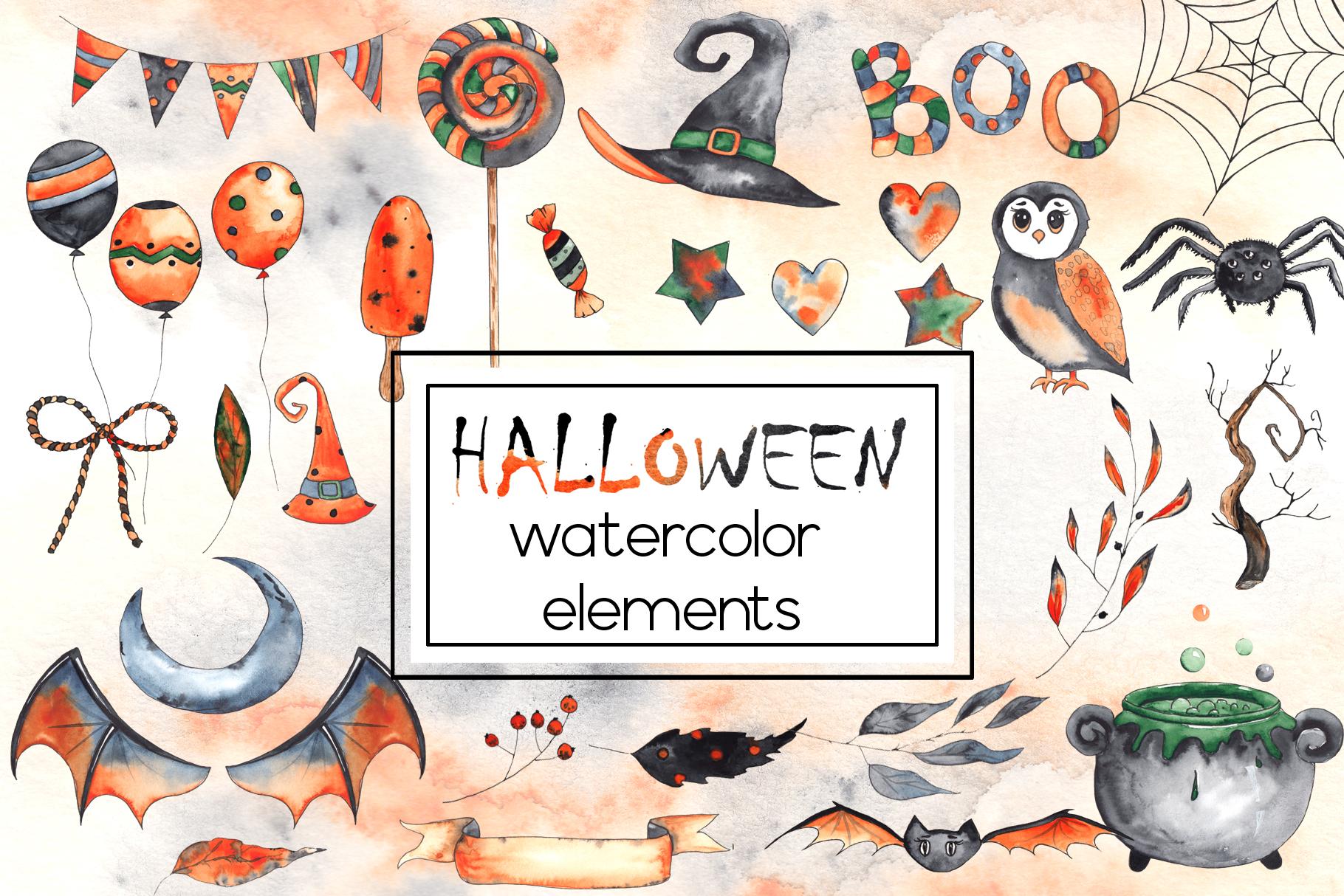 Watercolor autumn BUNDLE example image 26
