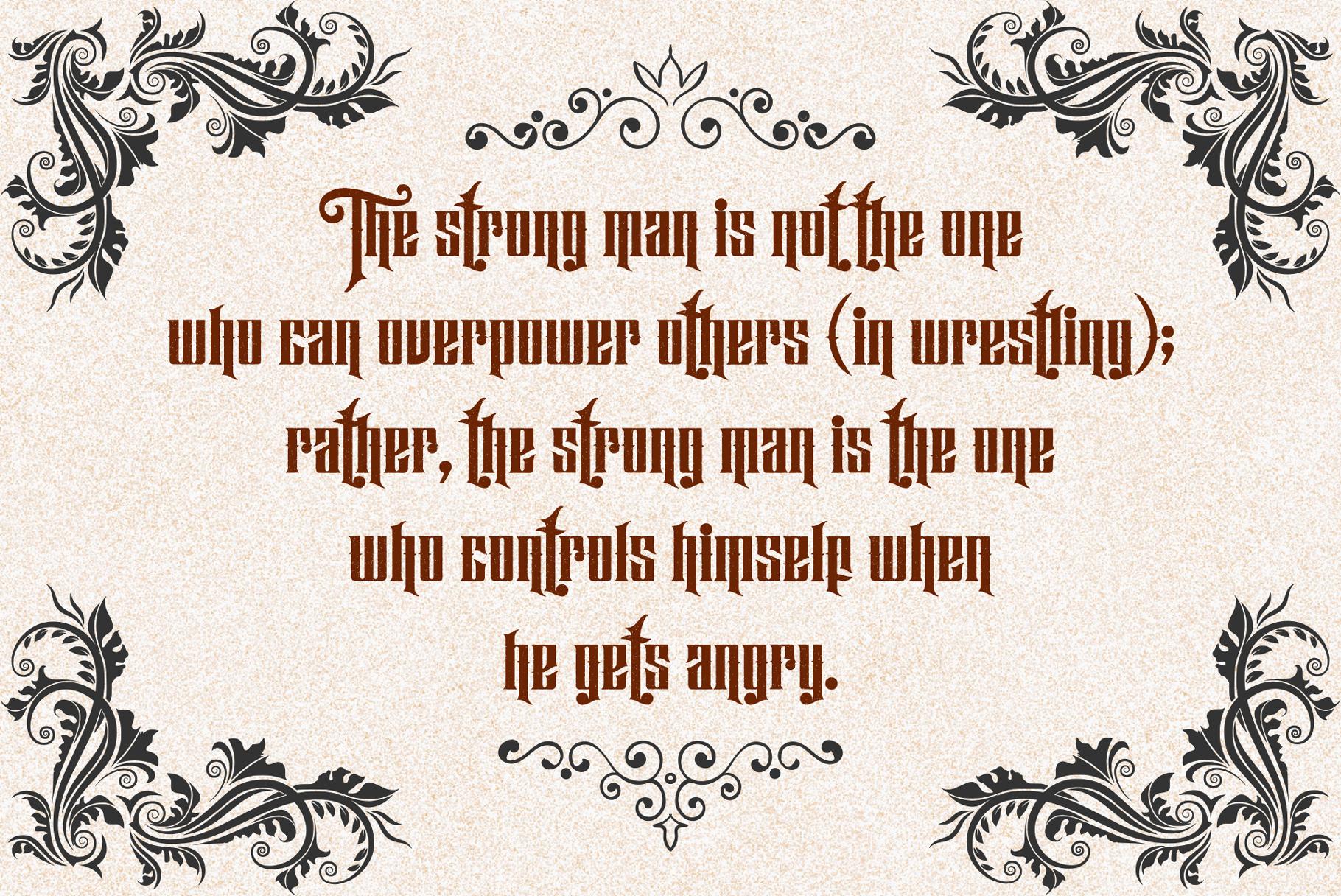 Hijrah - Blackletter Typeface example image 12
