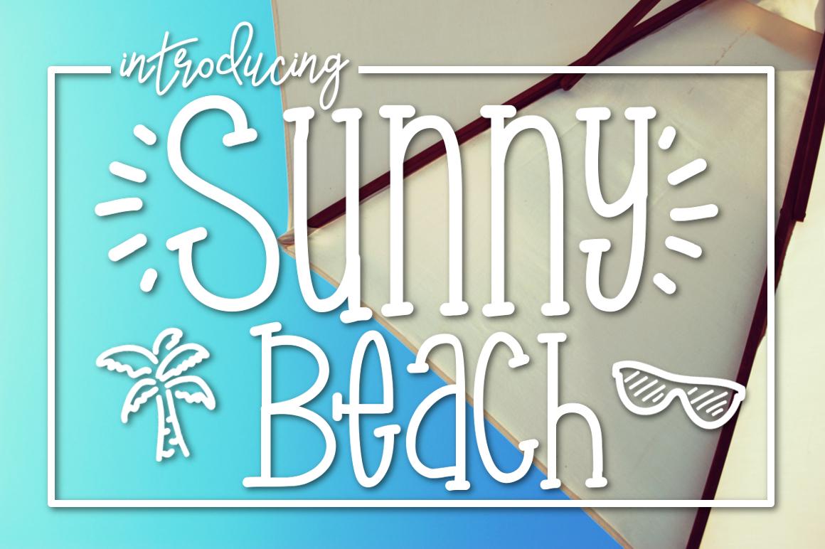 Sunny Beach a Handwritten Typeface example image 1