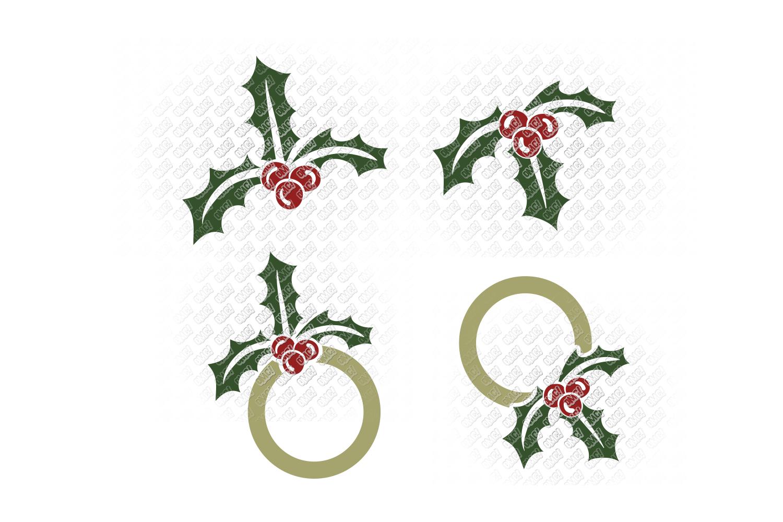 Mistletoe SVG Monogram Christmas in SVG, DXF, PNG, EPS, JPEG example image 2