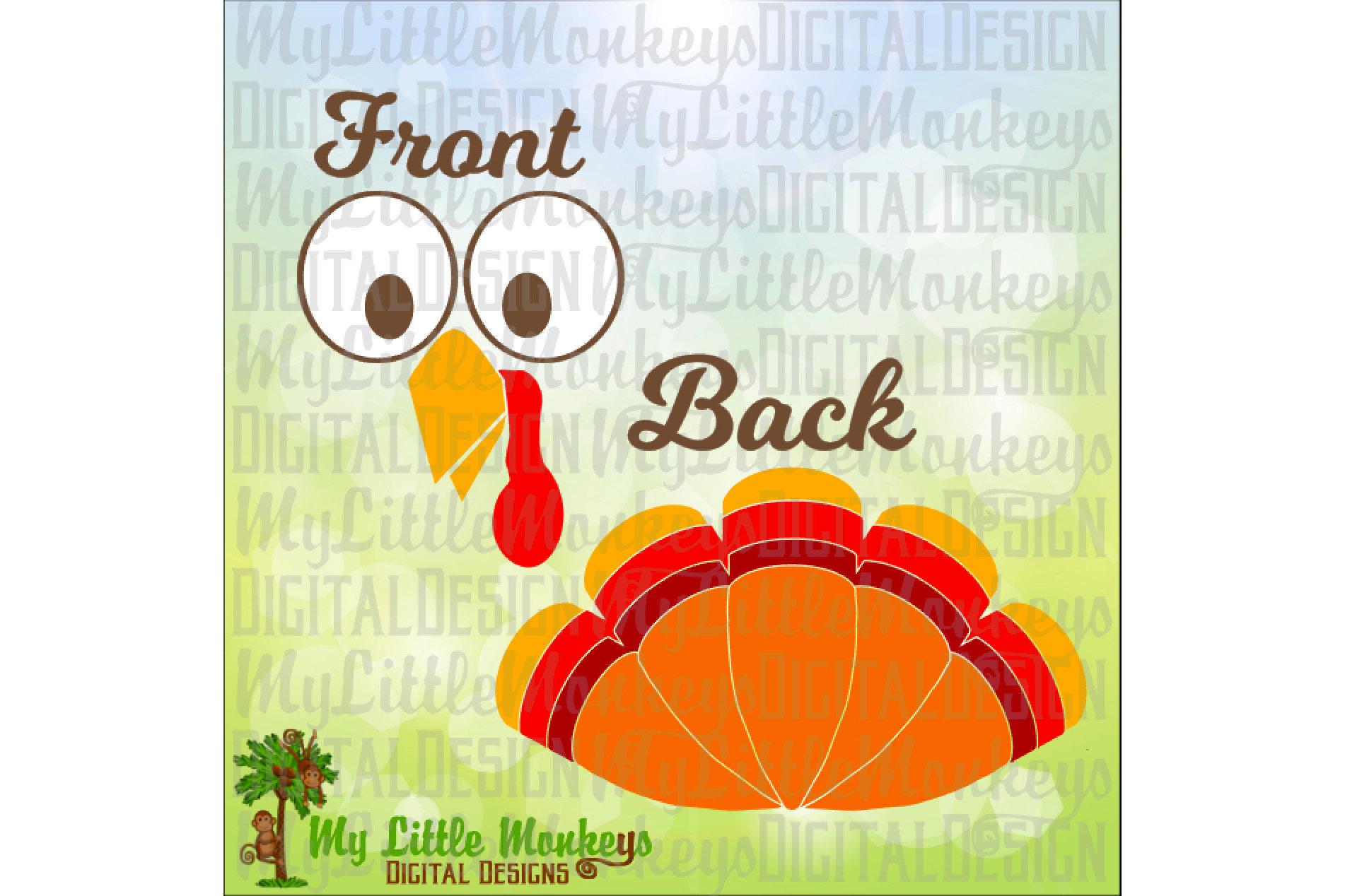Turkey Face Turkey Feathers Baby Bodysu Design Bundles