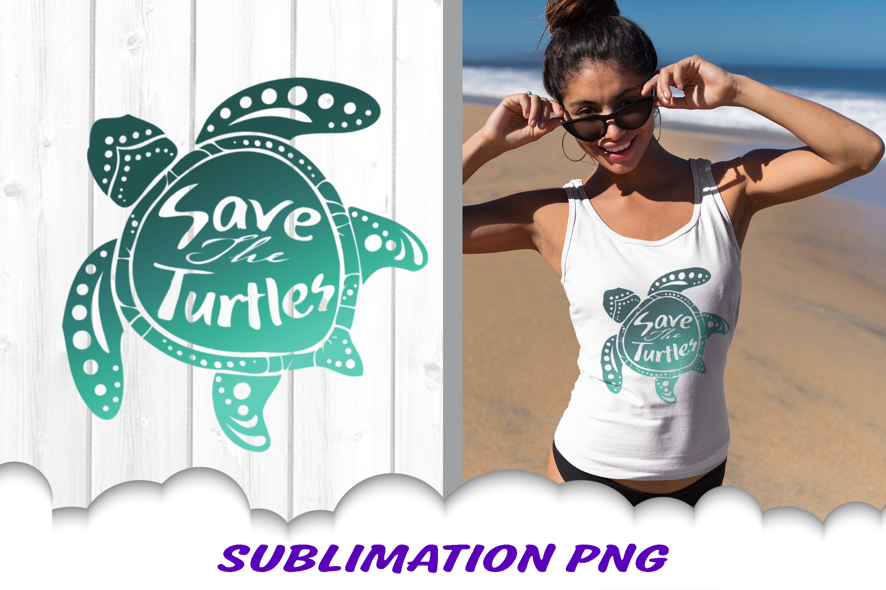 Sea Turtle Save The Turtles Sublimation PNG Bundle example image 2