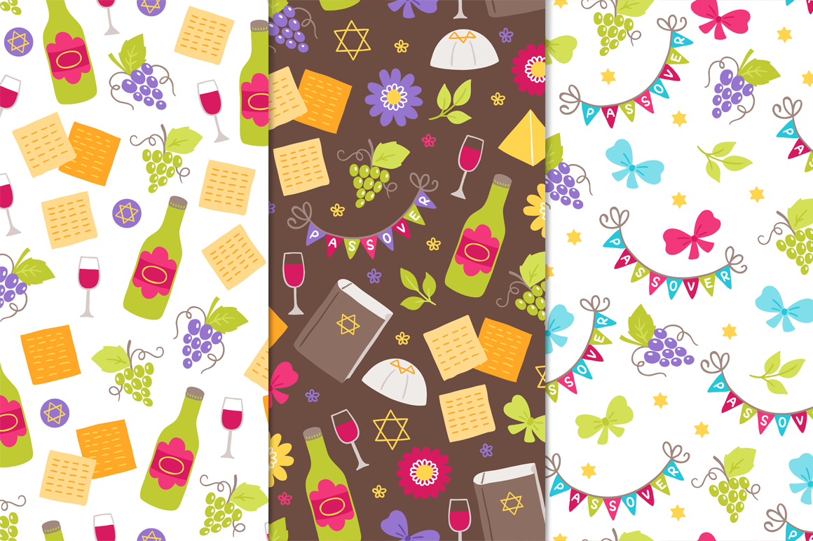 12 Passover Seamless Patterns example image 2