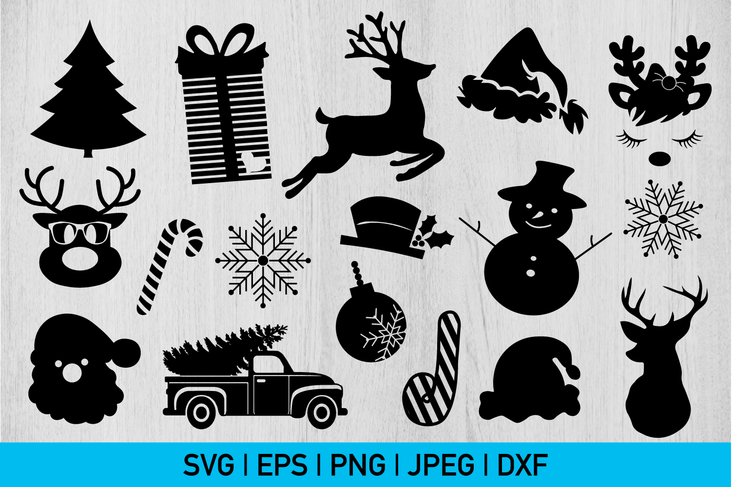Christmas Silhouette Bundle example image 1