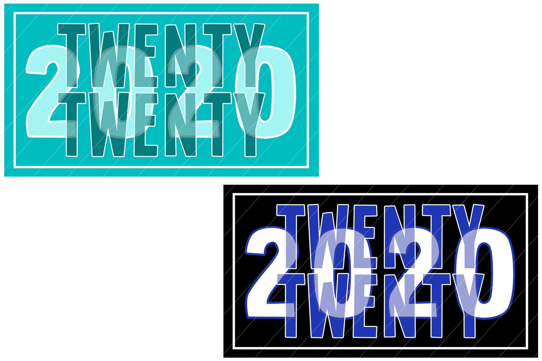 2020 New Year Designs for PRINTING, High Resolution example image 12