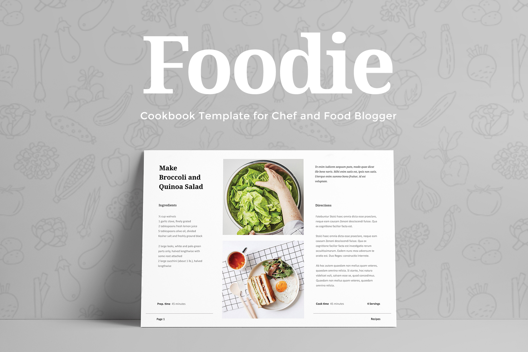 Foodie - Cookbook Template example image 3