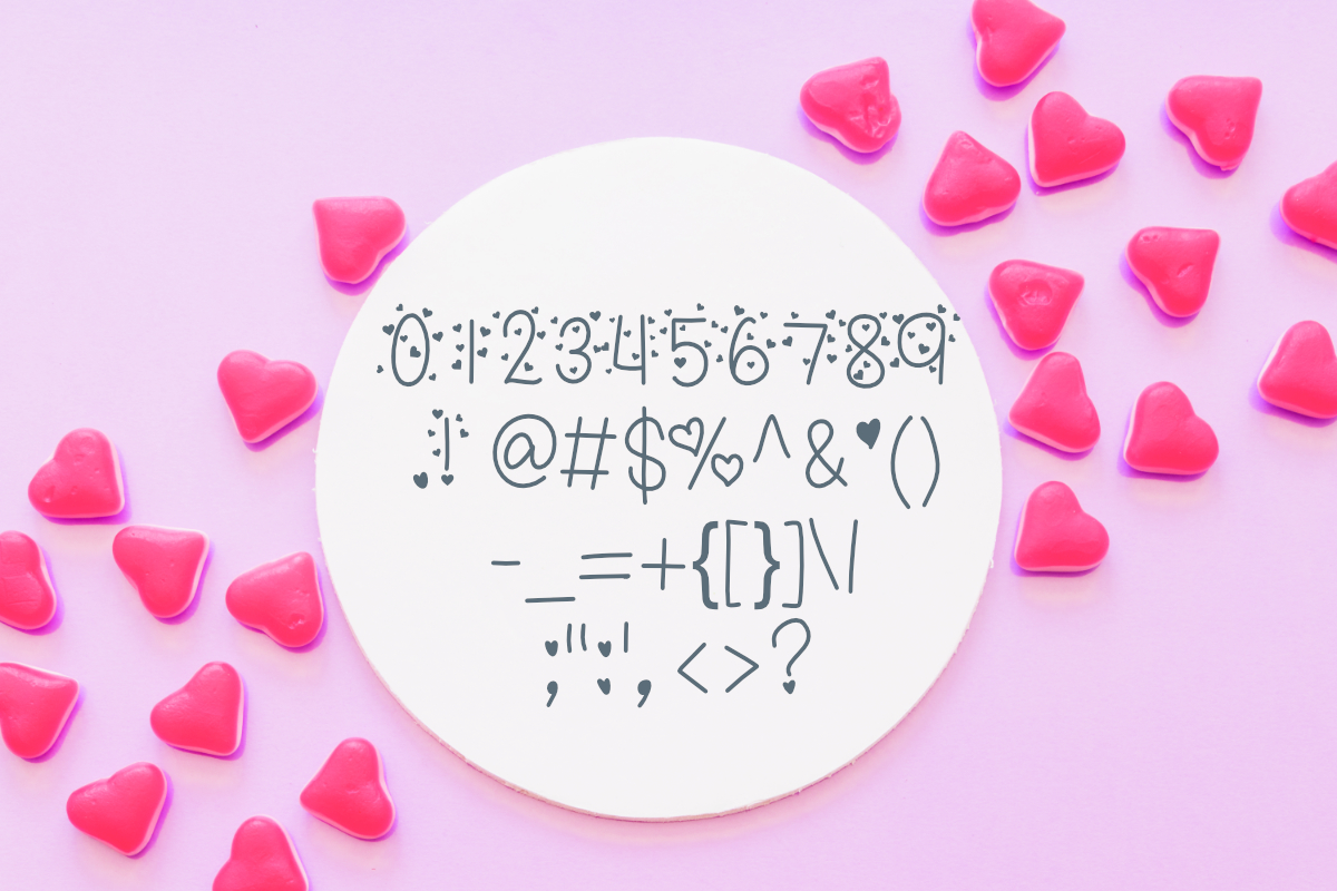 Candy Hearts Valentine Font example image 5