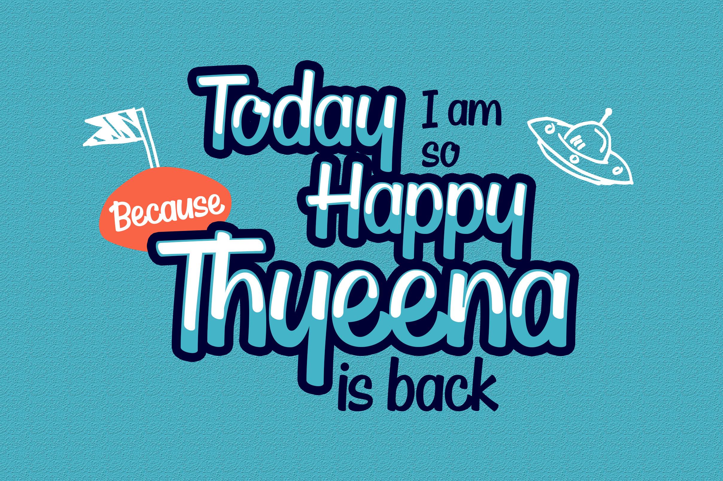 Thyeena Fonts & Illustration example image 2