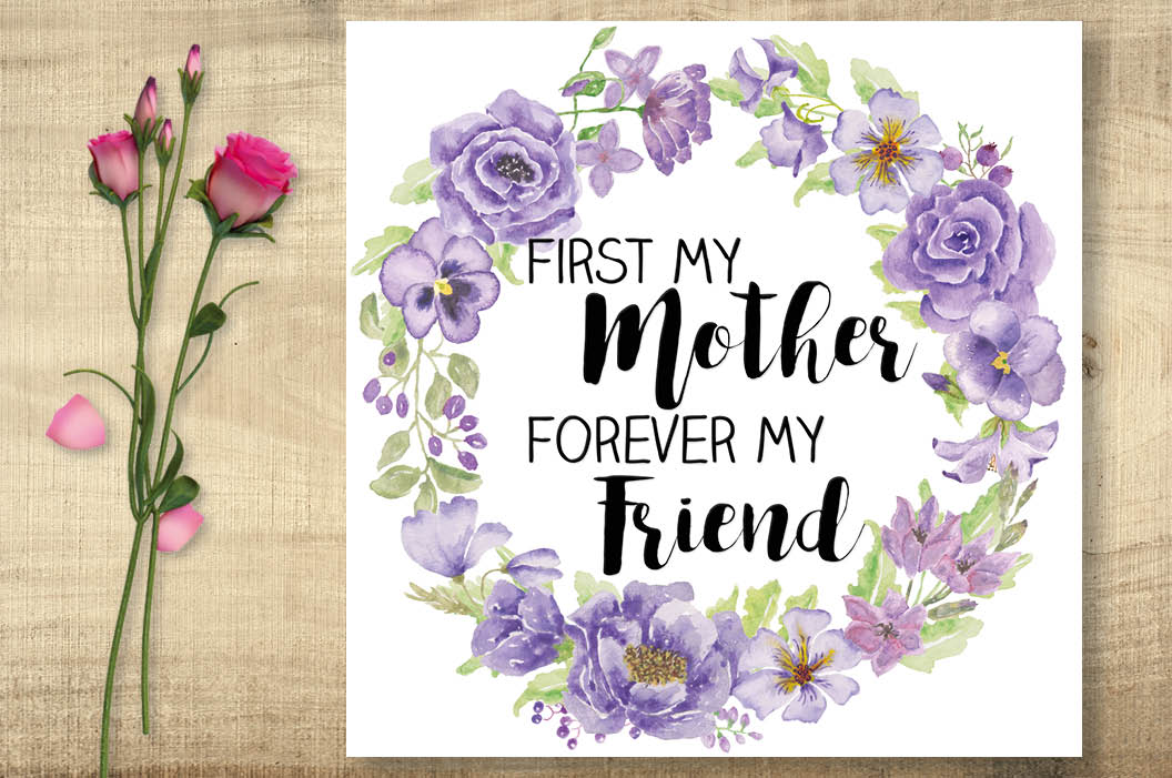 Mother's day wall art: purple flowers example image 3