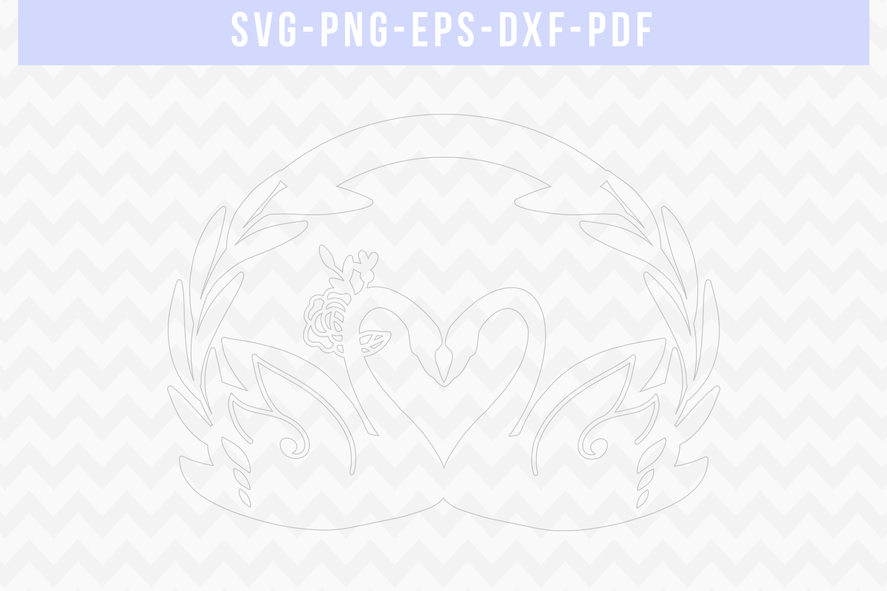 Customizable Wedding Swan Papercut Template, Lover SVG, DXF example image 2