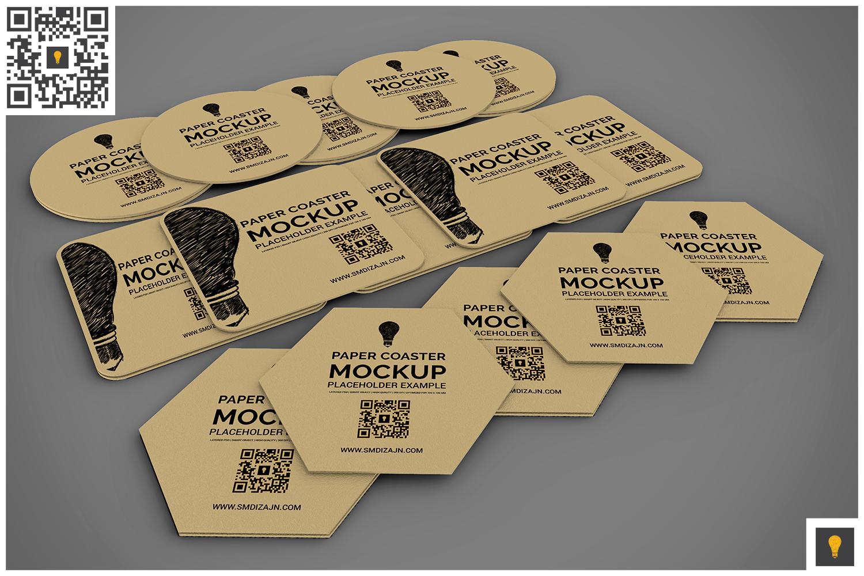 Paper Coaster Mockup example image 8