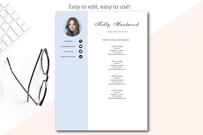 creative resume template printable resume example image 4