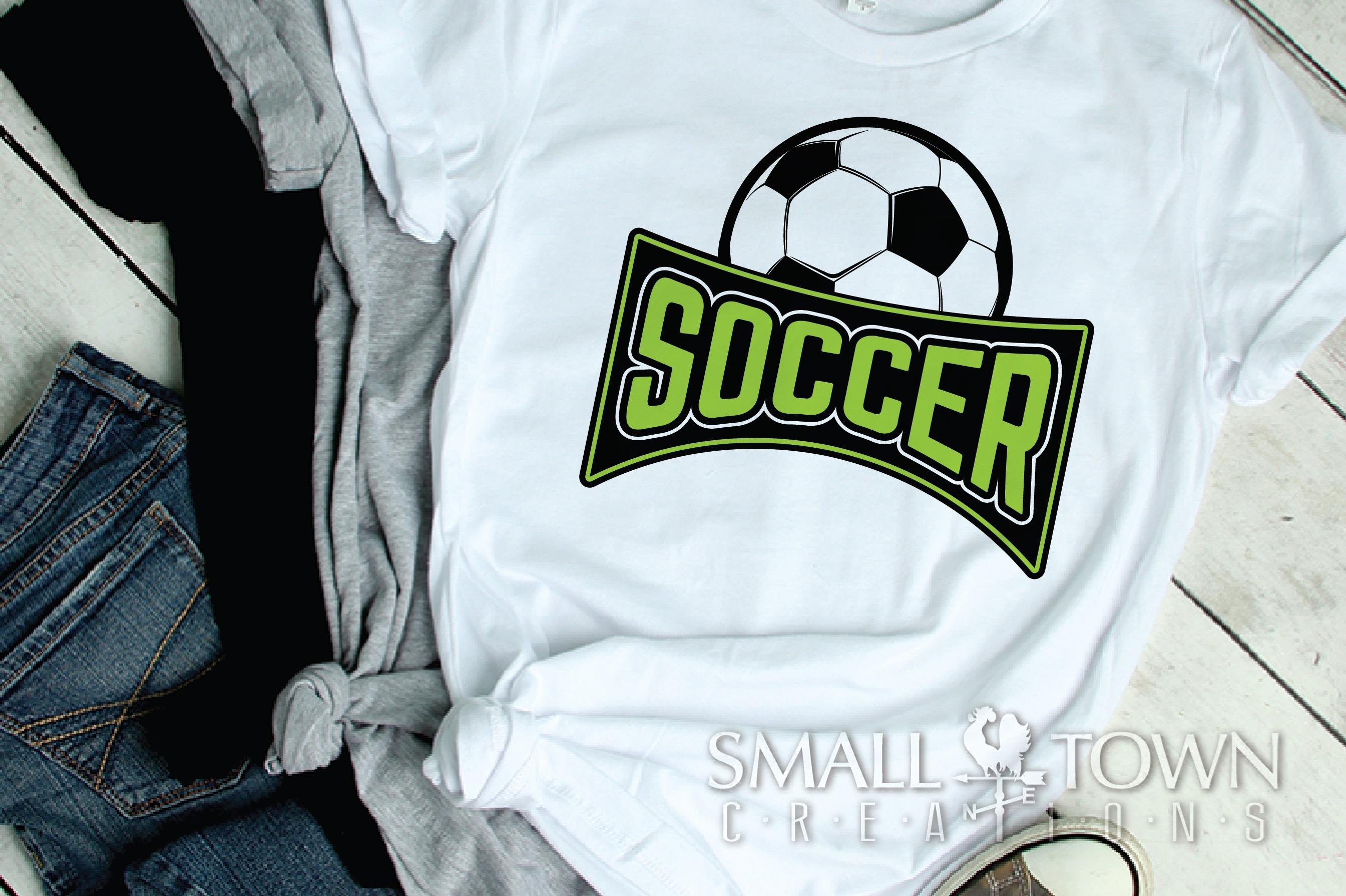 Soccer bundle, Soccer ball, team logo, PRINT, CUT & DESIGN example image 4
