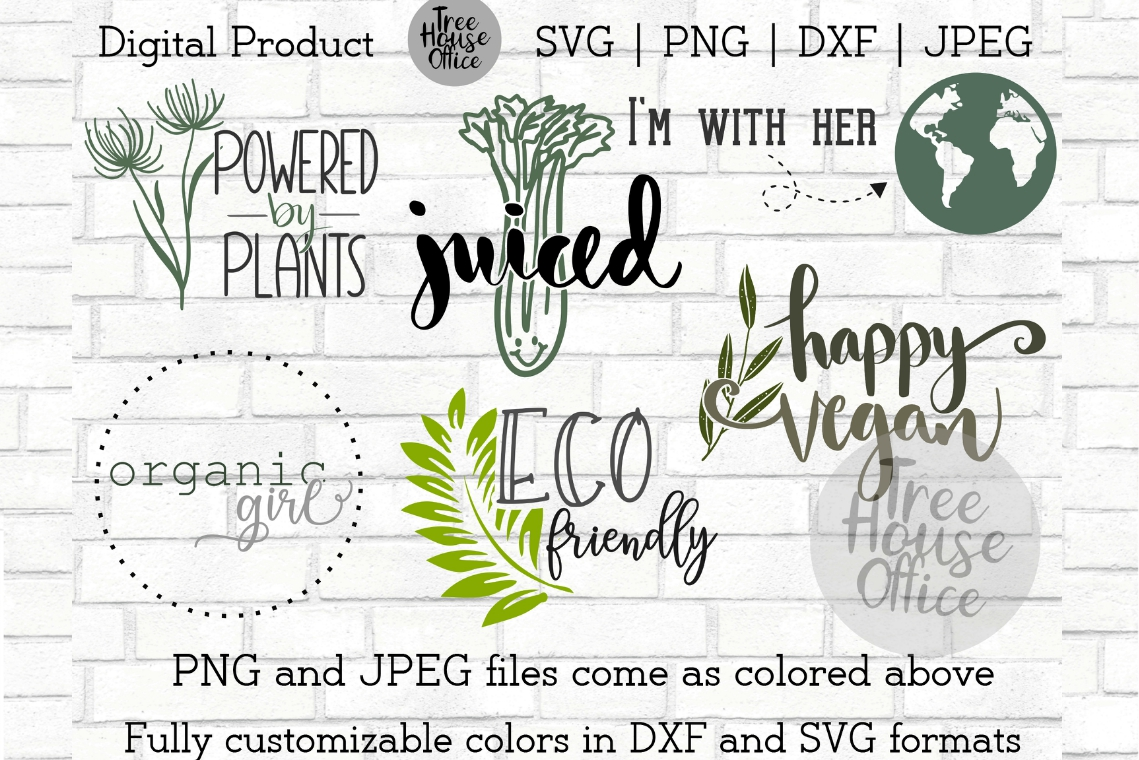 Funny Vegetarian Vegan Organic Earth Love Hippie SVG PNG JPG example image 2