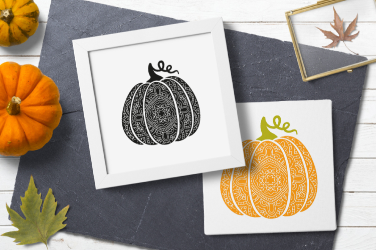 Bohemian pumpkin svg. Fancy pumpkin example image 4