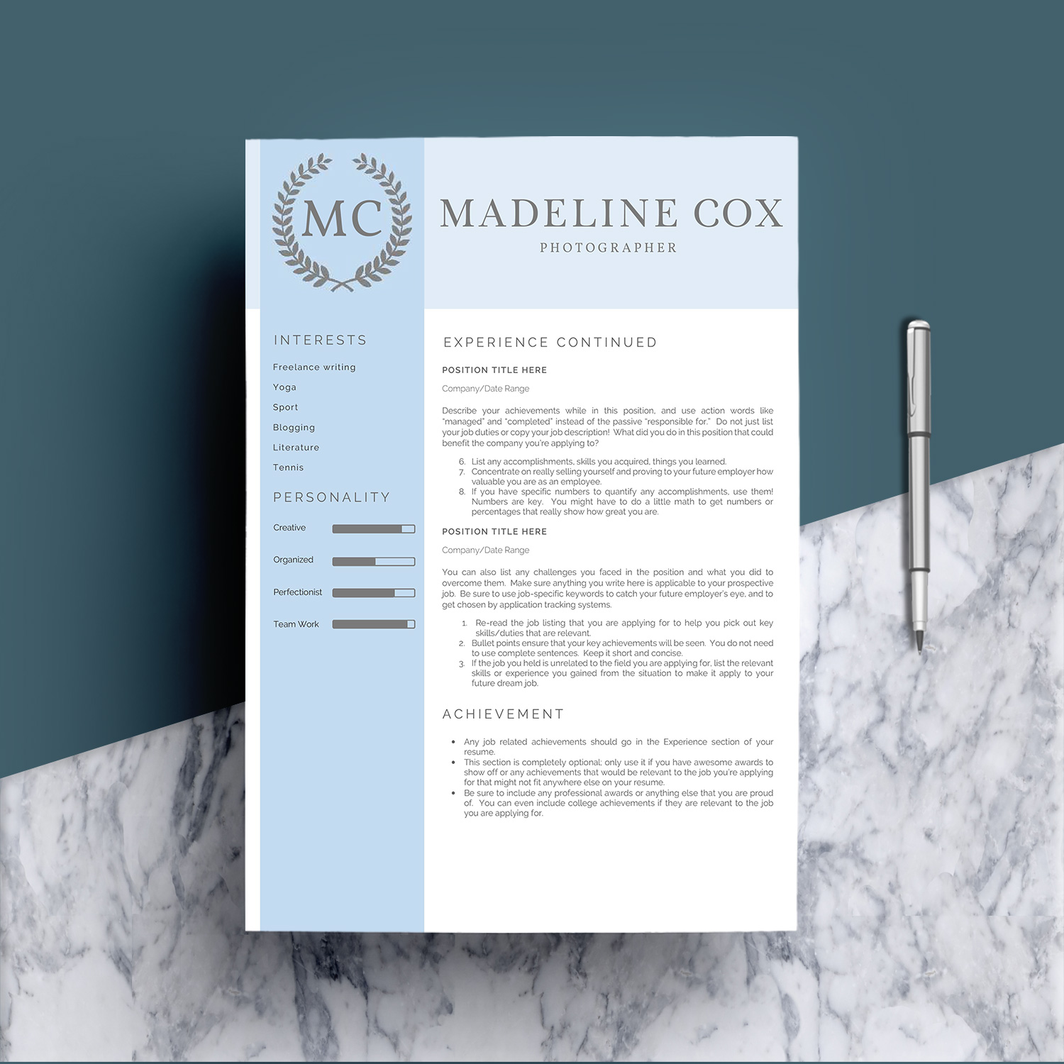 Resume Template Word 5 Pages example image 6