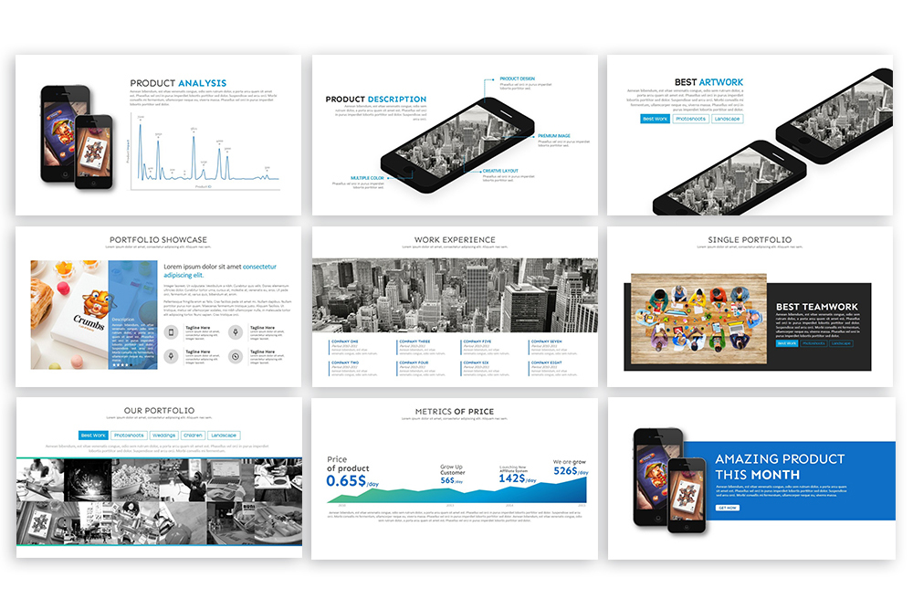 Clean PowerPoint Template example image 5