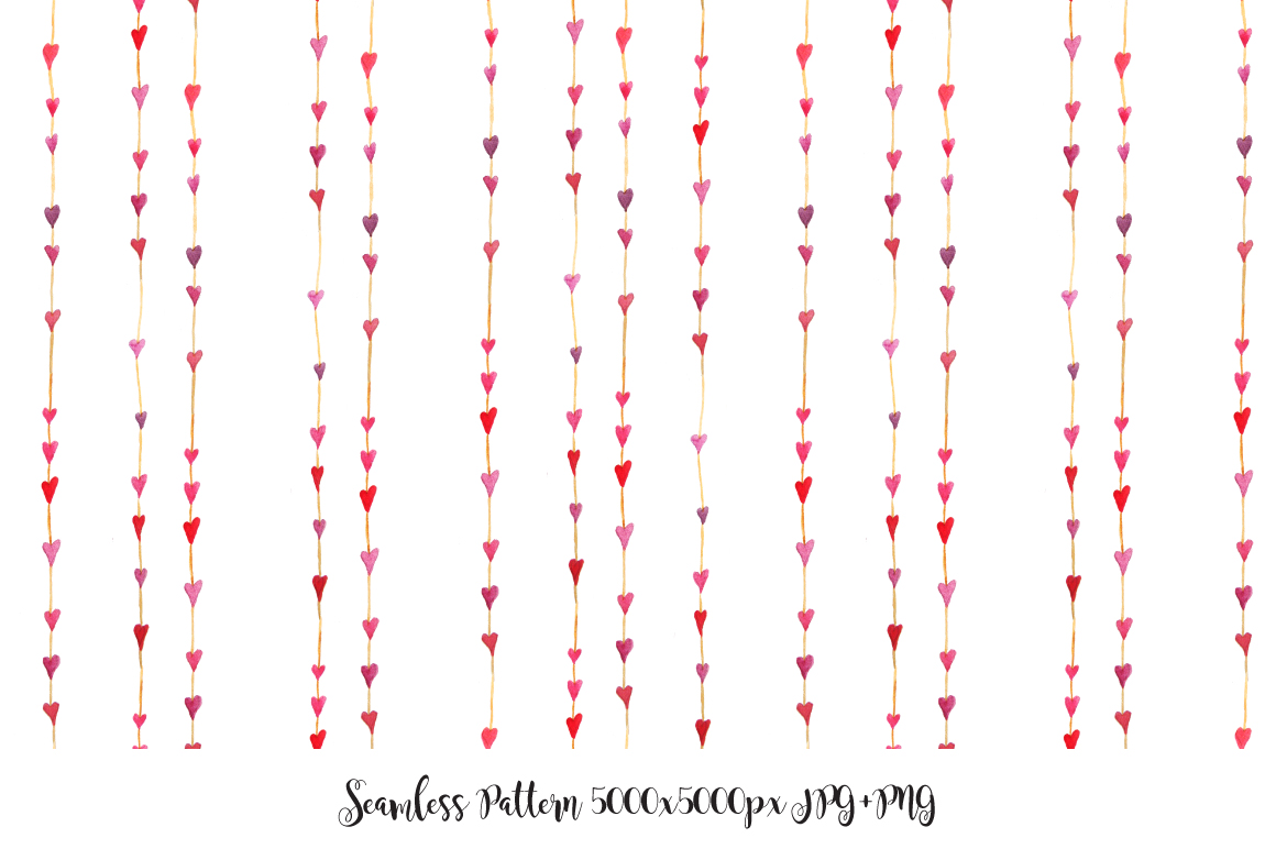 Watercolor Valentine's Day BUNDLE example image 12